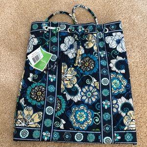 Vera Bradley Mod Floral Blue Backsack - NWT